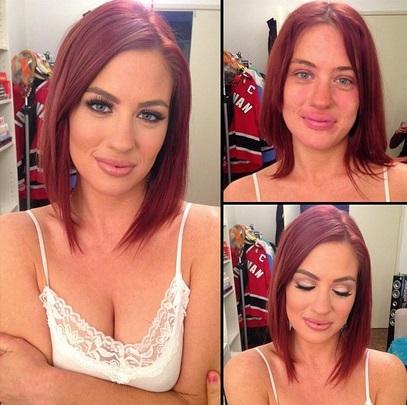 Jessica Mor no makeup
