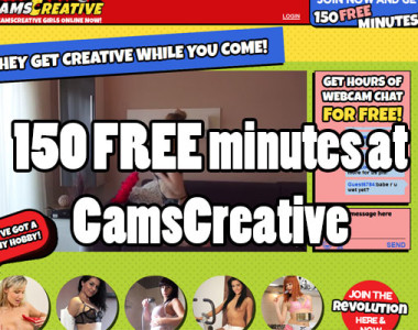 150 Free Minutes at Camscreative!